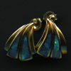 EARRINGS – 14KY WITH OPAL INLAY