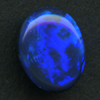 LIGHTNING RIDGE BLACK OPAL 8.3X6.3 .87CT