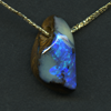 QUEENSLAND BOULDER OPAL FREEFORM DRILLED 10.18CT