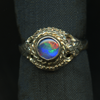 Ring Triplet 5MM Round Blue Green