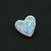 WHITE HEART CUT OPAL 10.5X10 1.05CT