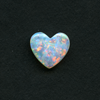 WHITE HEART CUT OPAL 10X9MM .84CT