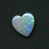WHITE HEART CUT OPAL 12MM 1.97CT