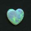 WHITE HEART CUT OPAL 14MM 3.52CT