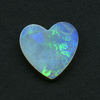 WHITE HEART CUT OPAL 15X14 1.67CT