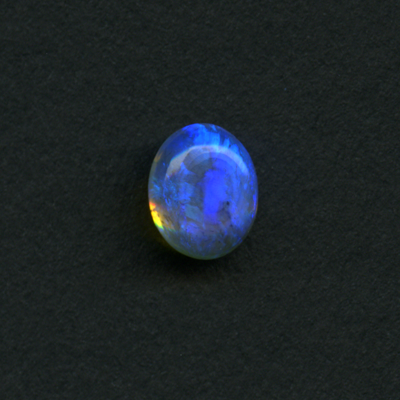LIGHTNING RIDGE BLACK OPAL 7.8X6.2 1.15CT